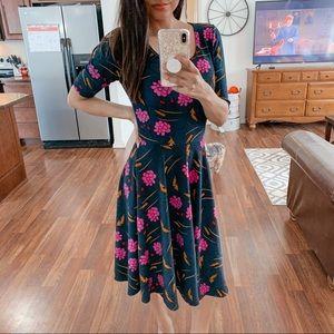 Lularoe | Navy floral print dress